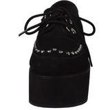 Konstläder 7 cm GRIP-03 lolita skor goth platåskor med tjock sula