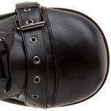 Konstläder 8,5 cm TRASHVILLE-205 Platå Goth Stövlar för Män