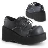 Konstläder 8 cm DANK-110 lolita skor goth platåskor