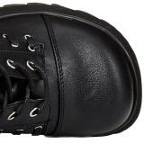 Konstläder 9 cm SCENE-107 Svarta punk stövlar med snörning