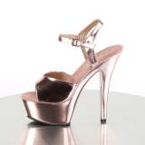 Koppar 15 cm Pleaser KISS-209 Höga sandaletter med klack