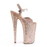 Koppar 25,5 cm BEYOND-010LG glitter platå klackar skor