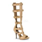 Kräm 11,5 cm GLADIATOR-208 knähöga gladiator sandaler för damer