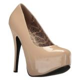 Kräm Lackläder 14,5 cm Burlesque TEEZE-06W pumps för män med breda fötter