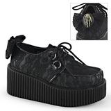 Lace Fabric CREEPER-212 Platform Women Creepers Shoes