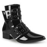 Lack WARLOCK-55 spetsiga boots - herr winklepicker boots 2 spænder
