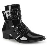 Lack WARLOCK-55 spetsiga boots - herr winklepicker boots 2 spännen