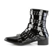 Lack WARLOCK-70 spetsiga boots - herr winklepicker boots 6 spænder