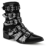 Lack WARLOCK-70 spetsiga boots - herr winklepicker boots 6 spännen