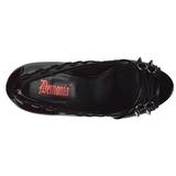 Lackläder 13,5 cm PIXIE-18 dam pumps skor med öppen tå