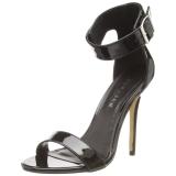 Lackläder 13 cm Pleaser AMUSE-10 högklackade sandaletter