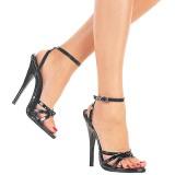 Lackläder 15 cm DOMINA-108 fetish sandaler med stilettklack
