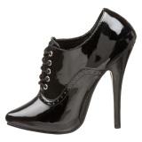 Lackläder 15 cm DOMINA-460 oxford skor med höga klackar