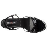 Lackläder 15 cm Devious DOMINA-108 högklackade sandaletter