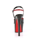 Lackläder 18 cm SKY-309TT pleaser platåsandaletter med röda sulor