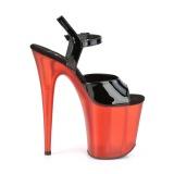 Lackläder 20 cm FLAMINGO-809T pleaser skor med höga klackar