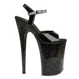 Lackläder 23 cm Pleaser INFINITY-909MG glitter platå klackar skor