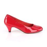 Lackläder 6 cm FEFE-01 pumps för män och drag queens i röd