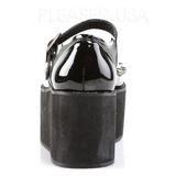 Lackläder 7 cm GRIP-01 lolita skor goth platåskor med tjock sula