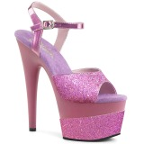Lavendel 18 cm ADORE-709-2G glittriga platå sandaler skor