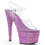 Lavender glitter 18 cm Pleaser ADORE-708LG Pole dancing high heels shoes