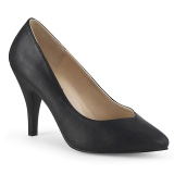 Leatherette 10 cm DREAM-420W mens pumps for wide feets