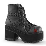 Leatherette 10 cm RANGER-108 lolita ankle boots platform