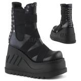 Leatherette 12 cm Demonia STOMP-25 gothic platform ankle boots