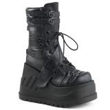 Leatherette 12 cm STOMP-26 gothic platform ankle boots