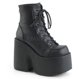 Leatherette 13 cm DEMONIA CAMEL-203 goth ankle boots