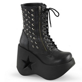 Leatherette 13 cm DYNAMITE-100 lolita ankle boots goth wedge platform