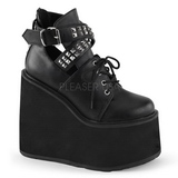Leatherette 14 cm SWING-05 lolita ankle boots goth wedge platform