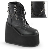 Leatherette 14 cm SWING-101 lolita ankle boots goth wedge platform