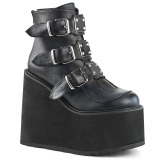 Leatherette 14 cm SWING-105 lolita ankle boots wedge platform