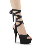 Leatherette 15 cm DELIGHT-634 platform pleaser sandals