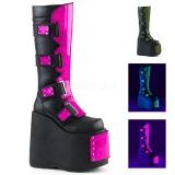 Leatherette 18 cm DEMONIA SLAY-310 goth boots with platform