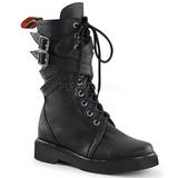 Leatherette 3,5 cm RIVAL-307 punk ankle boots