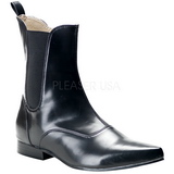 Leatherette 4 cm BROGUE-02 Winklepicker Mens Gothic Ankle Boots