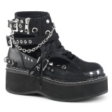 Leatherette 5 cm EMILY-317 lolita ankle boots platform