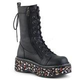 Leatherette 5 cm EMILY-350 lolita ankle boots platform