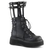 Leatherette 5 cm EMILY-357 lolita ankle boots platform