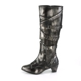 Leatherette 6,5 cm MAIDEN-8820 Women Knee Boots