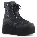 Leatherette 7 cm GRIP-103 lolita ankle boots goth wedge platform