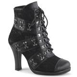 Leatherette 9,5 cm DEMONIA GLAM-202 goth lolita ankle boots
