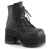 Leatherette 9,5 cm Demonia RANGER-102 gothic platform ankle boots