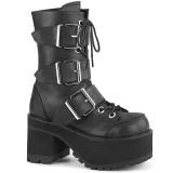 Leatherette 9,5 cm Demonia RANGER-308 gothic platform ankle boots