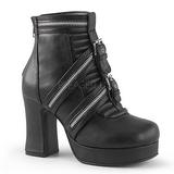 Leatherette 9,5 cm GOTHIKA-50 lolita ankle boots platform