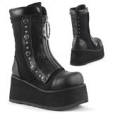 Leatherette 9 cm DEMONIA CLASH-206 goth ankle boots