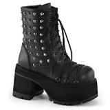 Leatherette 9 cm RANGER-208 goth lolita platform ankle boots