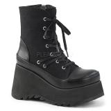 Leatherette 9 cm SCENE-50 lolita ankle boots wedge platform